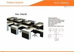 Prelam Particle Board Cluster Workstation Part Pilot-05