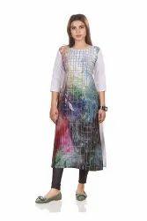 Crepe Multicolor Ladies Readymade Garments Wholesaler, Size: M L XL XXL