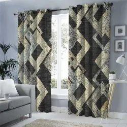 Cotton Printed Hotel Window Curtain, Size: 4 X 9 Feet