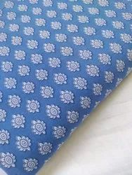 Blue Color Cotton hand Block Printed Fabric
