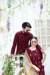 Cotton Printed Designer Couple Dress