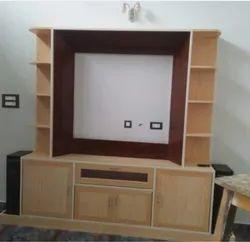 Brown Free Unit PVC TV Showcase, For Home