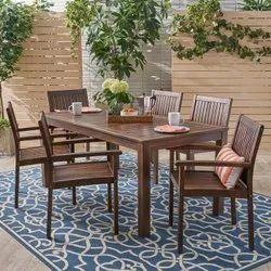 Outdoor Wood Patio Dining Set
