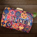 Designer Printed Fabric Clutch