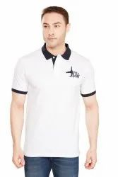 Polo Neck Half Sleeve Mens T Shirts With Collar