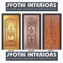 Teak Wood Carved Membrane Door