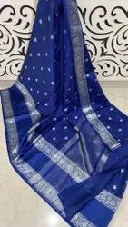 Party Wear Embroidered DAYBLE WARM SILK SAREE, 6.3 m (with blouse piece)
