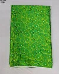Lemon Print Japan Sartin Silk Digital Print Fabric