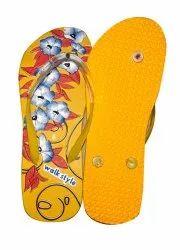Ladies Mustard Yellow Slippers