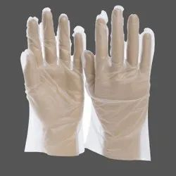 ISO PE Disposable Poly Gloves, Size: Large