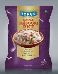 Torey Sona Masoori Rice, Packaging Type: Plastic Bag, Packaging Size: 25 Kg