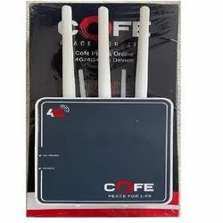 Wireless or Wi-Fi Black Cofe 4G Router, For Gps Tracking,Internet Access, 100 Mbps