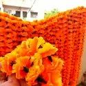 Fabric Based Artificial Marigold Garlands