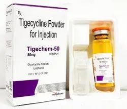TIGECHEM 50 Tigecycline injection, 10ml,With Tray, Prescription