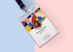 Rectangular Digital printing Office ID Card