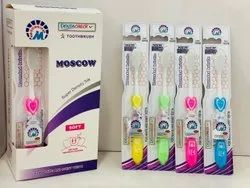 Medium Plastic Dentacheck Soft Toothbrushes, For Tooth Cleaning