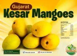 Yellow Organic Kesar Mango, Carton
