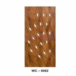 Wood Laminated WC 6062 White Cutting Decorative Door