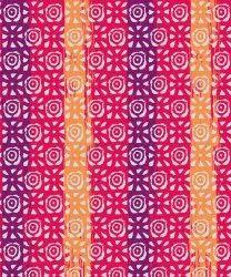 Polyester Hand Block Pattern & Digital Print Fabric, Multicolour