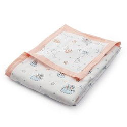 Cotton Printed Muslin Fabric, Kids, Multicolour
