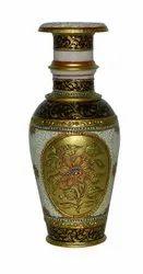 Marble vase boota design 9 inch brown