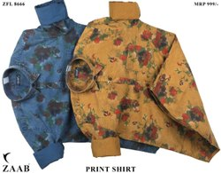 Blue & Yellow Casual Wear Men Stylish Shirt