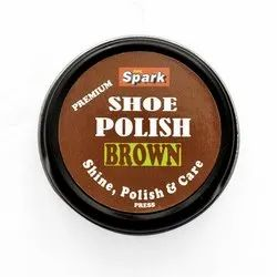SPC Spark Leather Shoes Brown Paste Shoe Polish, For Footwear, Packaging Type: Tin Container