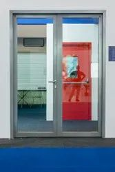 Ss ( Frame Material) Hinged Fully Glazed Double Door, For Office, Thickness: 25 Mm (frame Thickness)