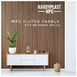 HARDYPLAST Fluted Design Wpc Flute Panel, For Commercial and Residential, Thickness: 26 Mm