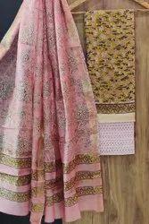 Multicolor Maheshwari Silk Suit
