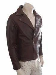 Full Sleeve Casual Wear Men Biker Leather Jacket, Size: Small