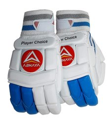 White 100% PU, Cotton Abhaya RH Cricket Glove, Size: Full