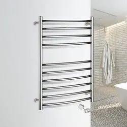Polished Chrome Electric Heated Towel Rail Rack For Bathroom, 750mm(30)