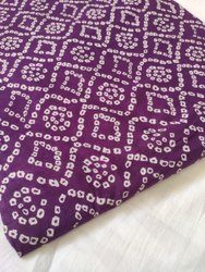 Purple Color Pure Cotton Printed Fabric