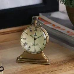Tora Brass Trophy Table Clock