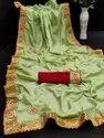 Pure Dola Silk Saree on Gota Pati Work Saree & Butta Beautifull Work