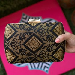 Silk Brocade Clutch Purse