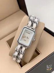 Formal Wear Silver Chanel Watch For Women