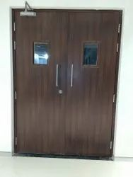 wooden finish fire rated swing door
