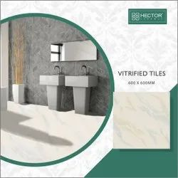 Gloss Skin GVT PGVT Vitrified Ceramic Bathroom Tiles, Thickness: 10 mm, Size: 600X600 mm