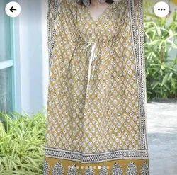Cotton Block Printed Nightwear For Ladies