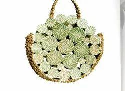 Natural Handled Handicraft Sabai Sea Kauna Grass Coaster Bag, Size: 12