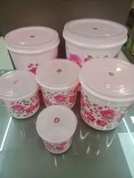 Multicolor Round Kitchen King 6pc Container Set, For Multipurpose, Capacity: 1-10kg
