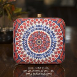 Irya Lifestyle Mandala Printed Evening Clutch Bag
