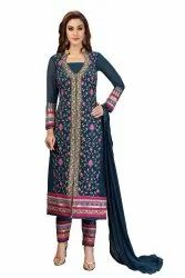 Nivah Fashion Faux Georgette Embroidered Suit