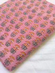 Ladies Pink Cotton Suit Fabric