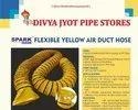 Yellow Ventilation Duct Hose