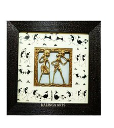 Brass 9x9 Inch Bastar Dhokra Art Frames, For Decoration