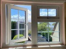 Light Oak Wooden UPVC Combination Windows, Glass Thickness: 4 Mm
