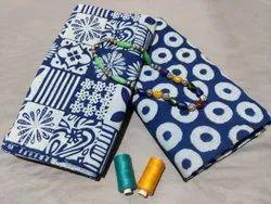 Indigo Cotton Fabric Printed Suit For Women